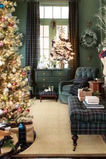Inspiring christmas decoration ideas using plaid 05