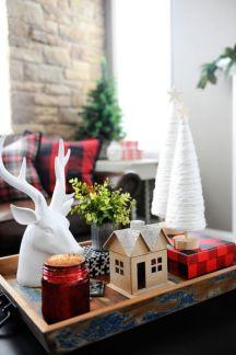Inspiring christmas decoration ideas using plaid 06