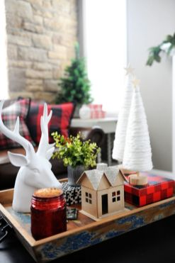Inspiring christmas decoration ideas using plaid 06