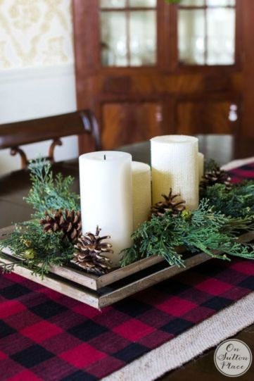 Inspiring christmas decoration ideas using plaid 12