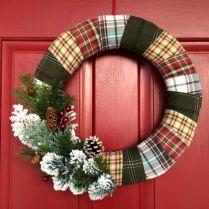 Inspiring christmas decoration ideas using plaid 36