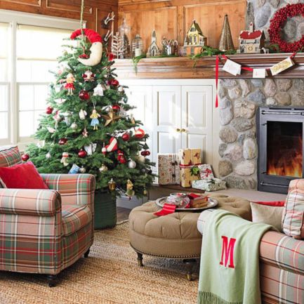 Inspiring christmas decoration ideas using plaid 39