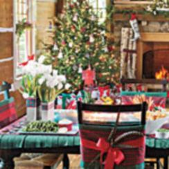 Inspiring christmas decoration ideas using plaid 41