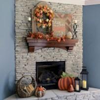Inspiring halloween fireplace mantel ideas 01