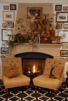 Inspiring halloween fireplace mantel ideas 03