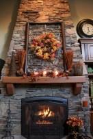 Inspiring halloween fireplace mantel ideas 04