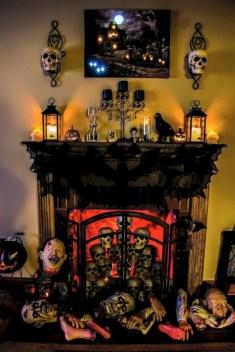 Inspiring halloween fireplace mantel ideas 05