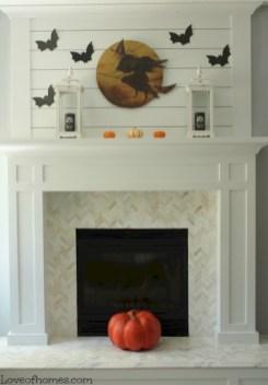 Inspiring halloween fireplace mantel ideas 06