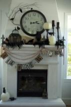 Inspiring halloween fireplace mantel ideas 10
