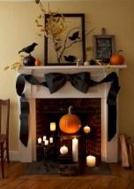Inspiring halloween fireplace mantel ideas 14