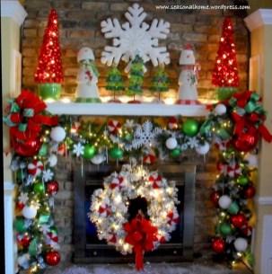 Inspiring halloween fireplace mantel ideas 19