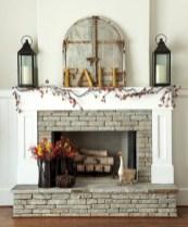 Inspiring halloween fireplace mantel ideas 24