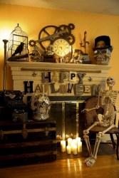 Inspiring halloween fireplace mantel ideas 29
