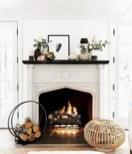Inspiring halloween fireplace mantel ideas 37