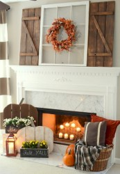 Inspiring halloween fireplace mantel ideas 43