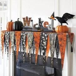 Inspiring halloween fireplace mantel ideas 48