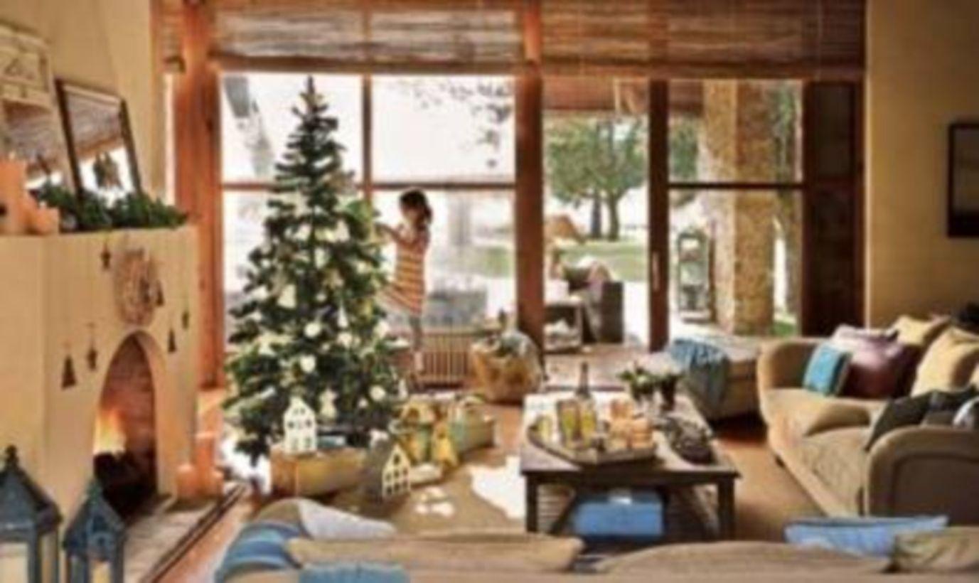 55 Inspiring Indoor Rustic Christmas Décoration Ideas