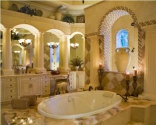 Mediterranean themed bathroom designs ideas 20