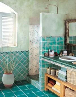 Mediterranean themed bathroom designs ideas 45