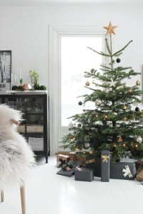 Minimalist and modern christmas tree décoration ideas 07