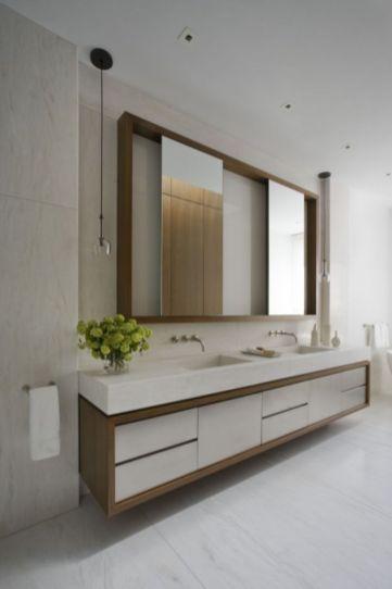 Modern bathroom with floating sink decor (26)