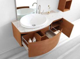 Modern bathroom with floating sink decor (28)