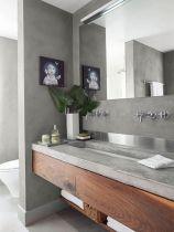 Modern bathroom with floating sink decor (55)
