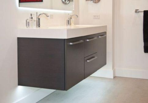Modern bathroom with floating sink decor (66)