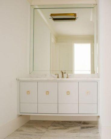 Modern bathroom with floating sink decor (67)