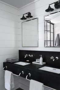 Modern bathroom with floating sink decor (7)