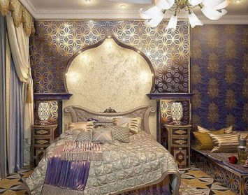 Moroccan themed bedroom design ideas 49