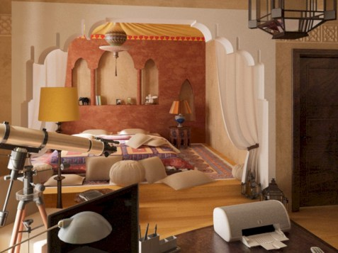 Moroccan themed bedroom design ideas 53