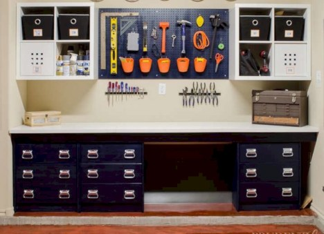 Neat and well-organized garage home decor ideas (22)