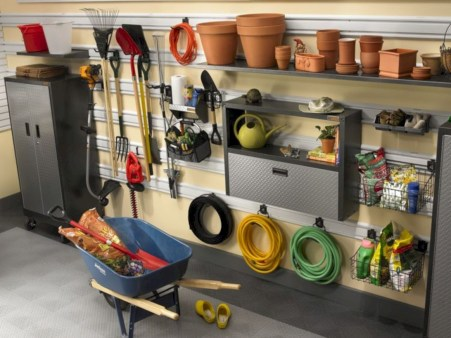 Neat and well-organized garage home decor ideas (7)