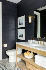 Paint colors farmhouse bathroom ideas (35)