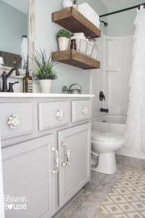 Paint colors farmhouse bathroom ideas (7)