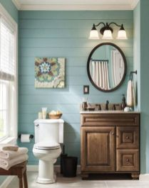 Paint colors farmhouse bathroom ideas (8)