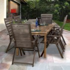Rectangular folding outdoor dining tables design ideas 06