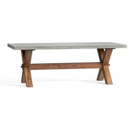 Rectangular folding outdoor dining tables design ideas 13