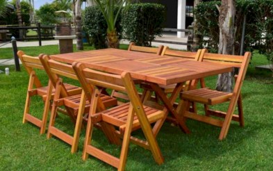 Rectangular folding outdoor dining tables design ideas 42