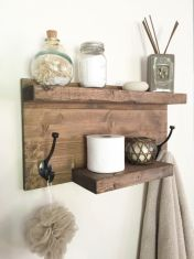Rustic diy bathroom storage ideas (1)