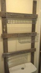 Rustic diy bathroom storage ideas (34)