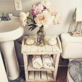 Rustic diy bathroom storage ideas (36)