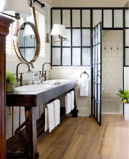 Rustic farmhouse bathroom ideas you will love (12)