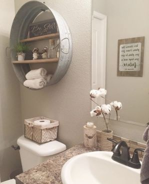 Rustic farmhouse bathroom ideas you will love (16)