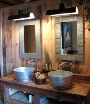 Rustic farmhouse bathroom ideas you will love (17)