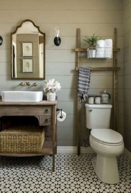 Rustic farmhouse bathroom ideas you will love (25)