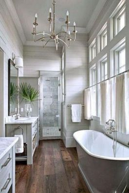 Rustic farmhouse bathroom ideas you will love (26)