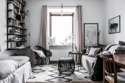 Scandinavian bedroom ideas for small apartment 41