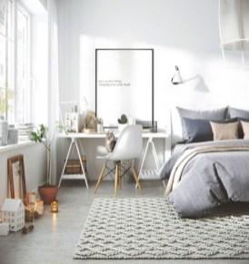 Scandinavian bedroom ideas for small apartment 47